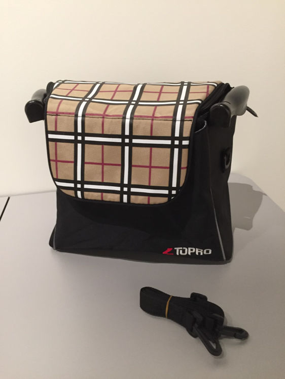 Mynd Topro taska framan á Troju Wine Red Tartan